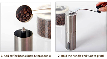 WTHLove Coffee Grinder Separated